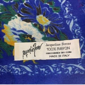 Jacqueline Ferrar Accessories - Vintage Floral Scarf Made In Italy